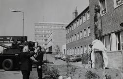 Flórián szobor avatás, Miskolc 1992. május 4. - Fotó: Laczó József